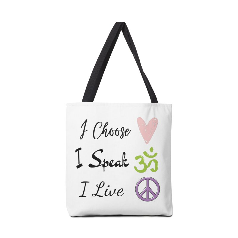 Love. OM. Peace. Accessories Bag by C.A.R.E. Gear! by C.A.R.E. Holistic Center