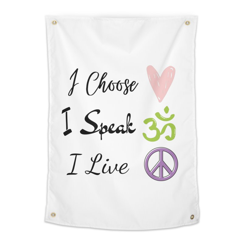 Love. OM. Peace. Home Tapestry by C.A.R.E. Gear! by C.A.R.E. Holistic Center