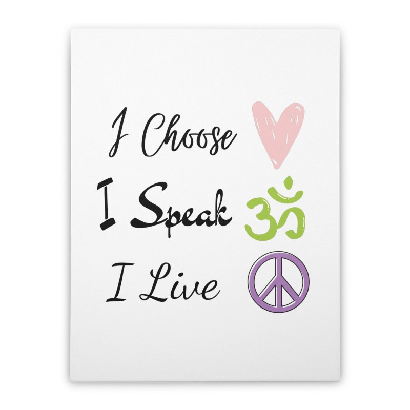 Love. OM. Peace. Home Stretched Canvas by C.A.R.E. Gear! by C.A.R.E. Holistic Center