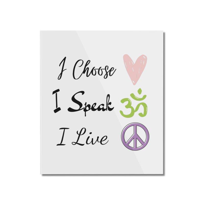 Love. OM. Peace. Home Mounted Acrylic Print by C.A.R.E. Gear! by C.A.R.E. Holistic Center