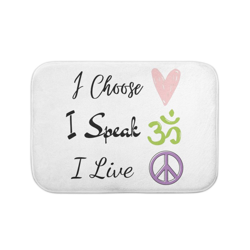 Love. OM. Peace. Home Bath Mat by C.A.R.E. Gear! by C.A.R.E. Holistic Center