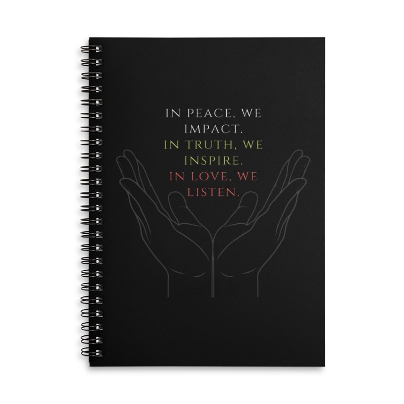 In Love We Listen Accessories Notebook by C.A.R.E. Gear! by C.A.R.E. Holistic Center