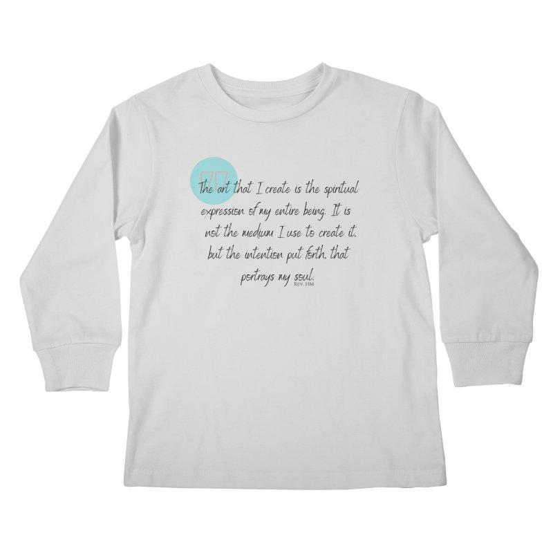 Art My Soul Kids Longsleeve T-Shirt by C.A.R.E. Gear! by C.A.R.E. Holistic Center