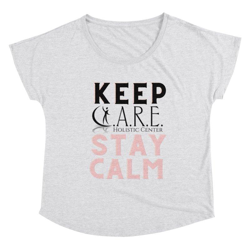 Keep C.A.R.E. Stay Calm Women's Scoop Neck by C.A.R.E. Gear! by C.A.R.E. Holistic Center