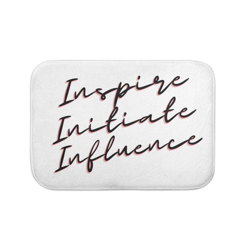 Inspire. Initiate. Influence Home Bath Mat by C.A.R.E. Gear! by C.A.R.E. Holistic Center