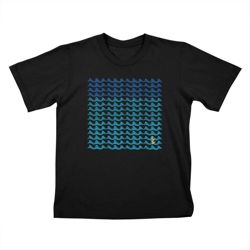 Caribbean Waves Kids T-Shirt by Caribea