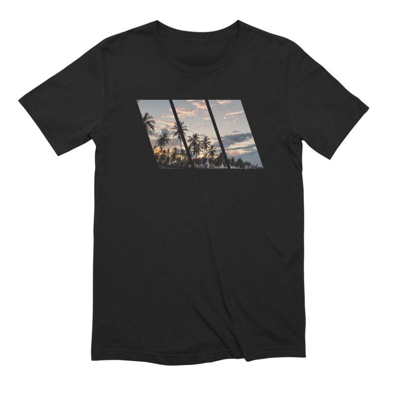 Sunset Beach Slants in Men's Extra Soft T-Shirt Black by Caribea