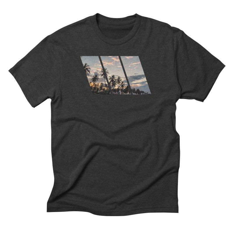 Sunset Beach Slants Men's Triblend T-Shirt by Caribea