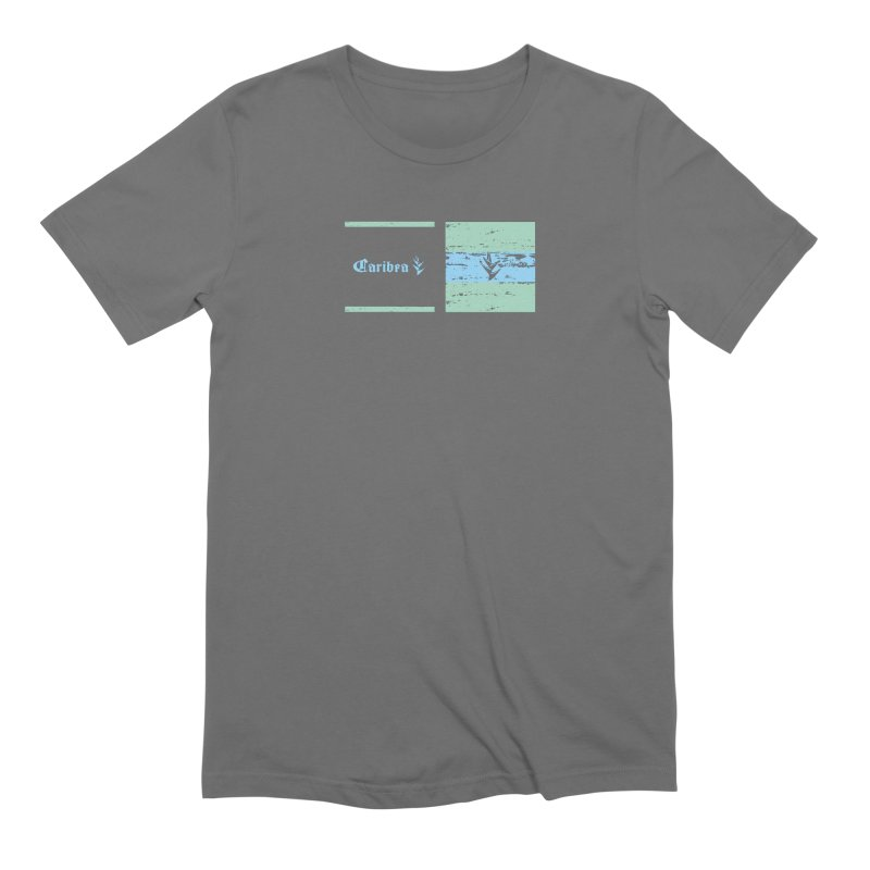 Beach Squares Turquoise Men's T-Shirt by Caribea