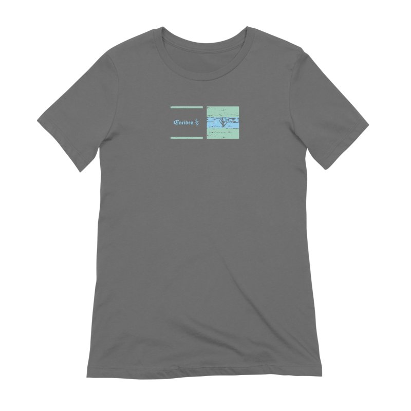 Beach Squares Turquoise Women's Extra Soft T-Shirt by Caribea