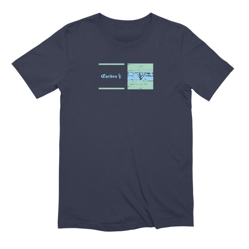 Beach Squares Turquoise Men's Extra Soft T-Shirt by Caribea