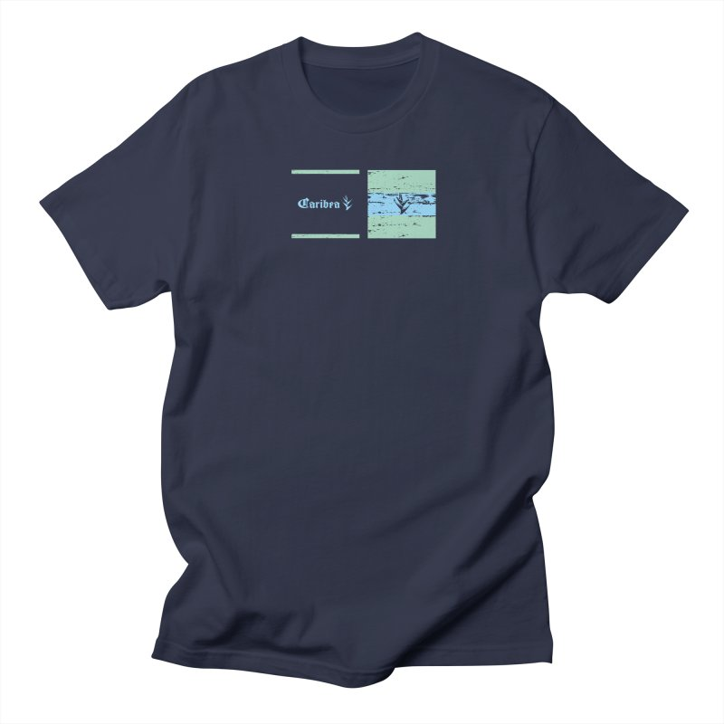 Beach Squares Turquoise Men's Regular T-Shirt by Caribea