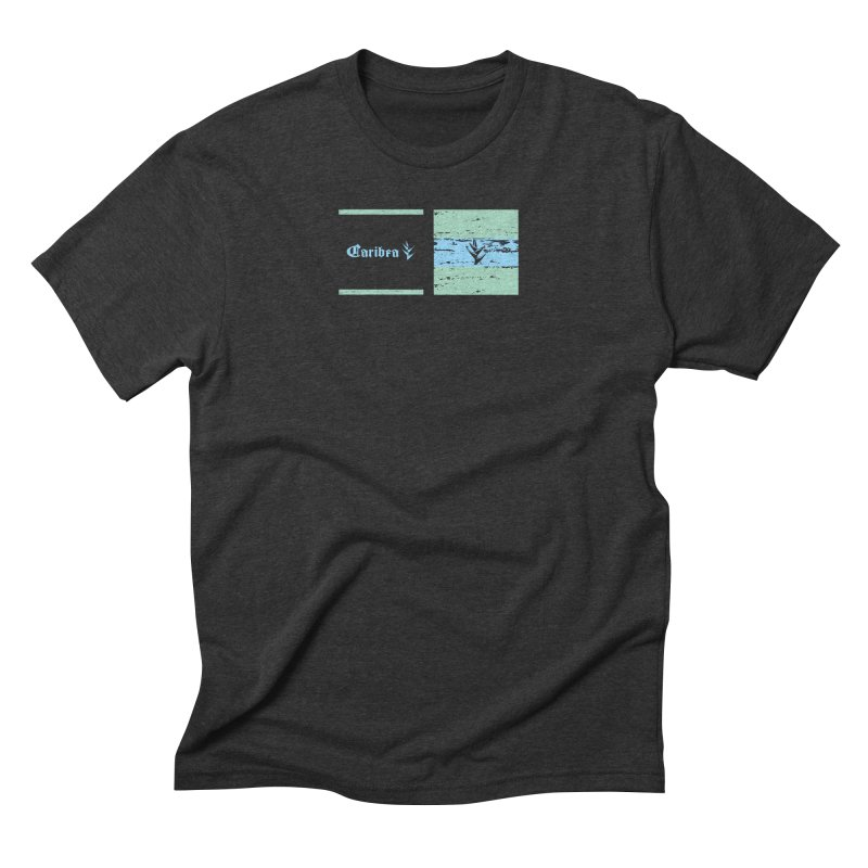 Beach Squares Turquoise Men's Triblend T-Shirt by Caribea