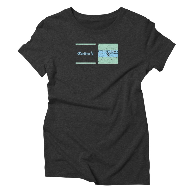 Beach Squares Turquoise Women's Triblend T-Shirt by Caribea