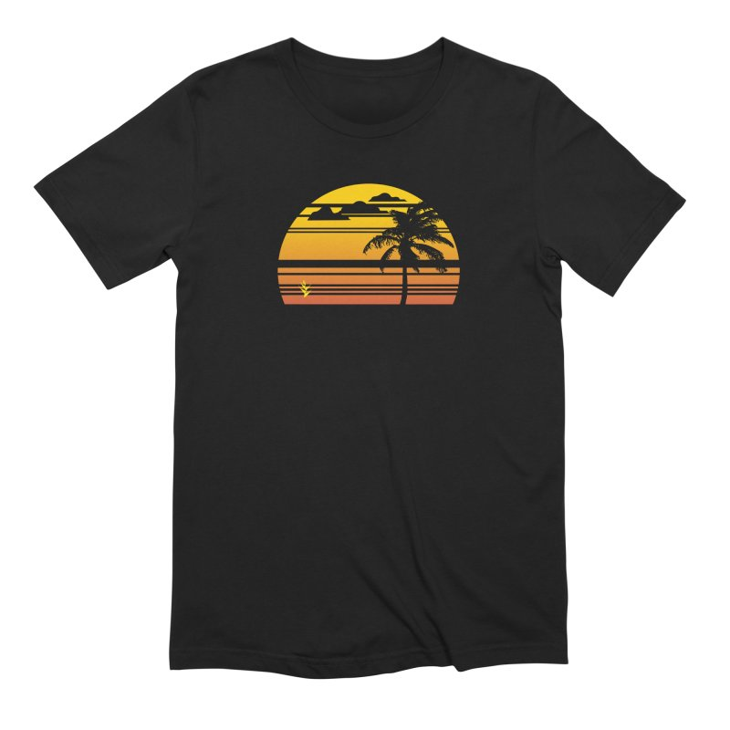 Palm Sunset in Men's Extra Soft T-Shirt Black by Caribea