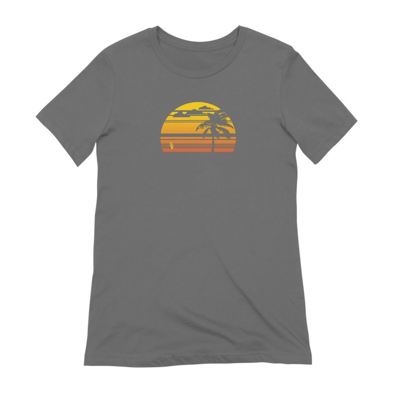 Palm Sunset Women's Extra Soft T-Shirt by Caribea