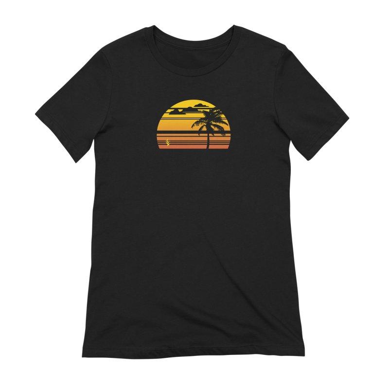 Palm Sunset Women's Extra Soft T-Shirt by Caribea