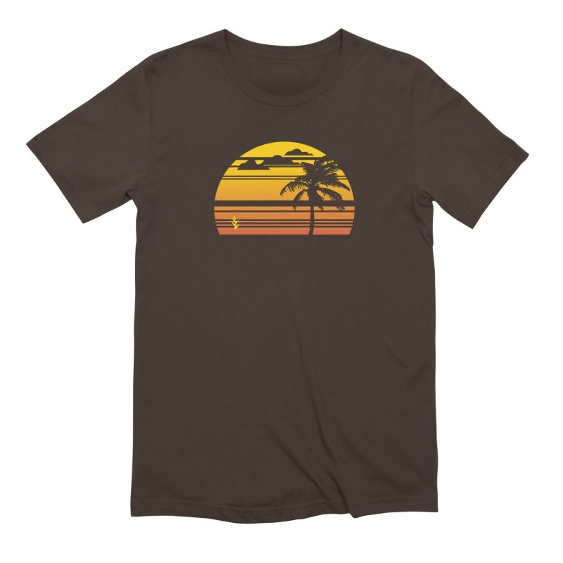 Palm Sunset Men's Extra Soft T-Shirt by Caribea