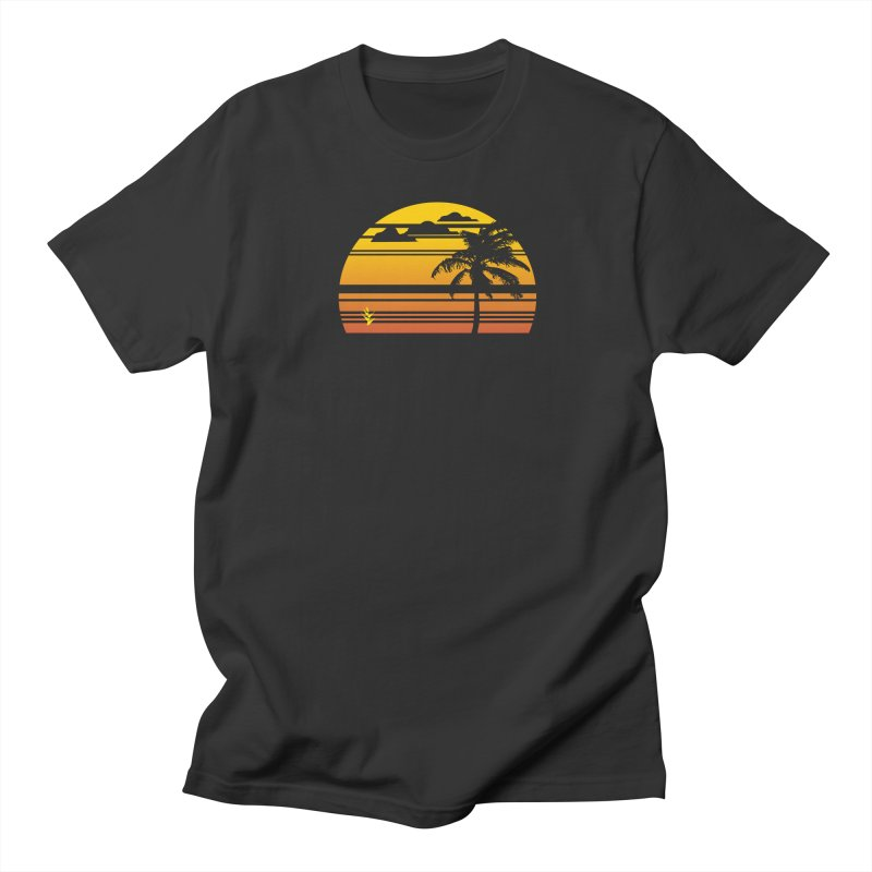 Palm Sunset Men's Regular T-Shirt by Caribea