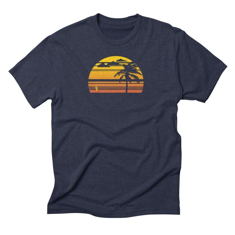 Palm Sunset Men's Triblend T-Shirt by Caribea