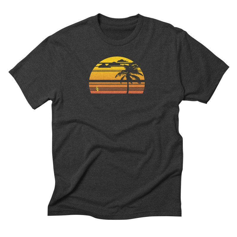 Palm Sunset Men's Triblend T-Shirt by Caribea