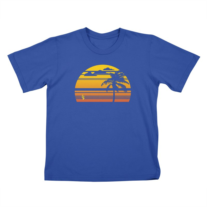 Palm Sunset Kids T-Shirt by Caribea