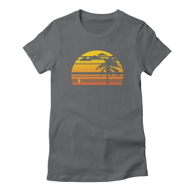 Palm Sunset Women's Fitted T-Shirt by Caribea