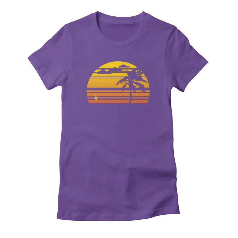 Palm Sunset Women's T-Shirt by Caribea