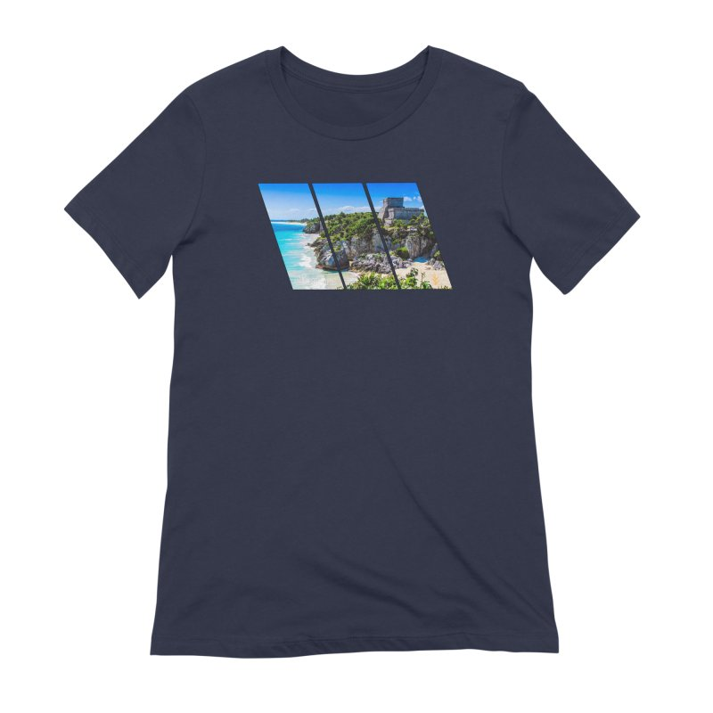 Tulum Beach Slants Women's Extra Soft T-Shirt by Caribea