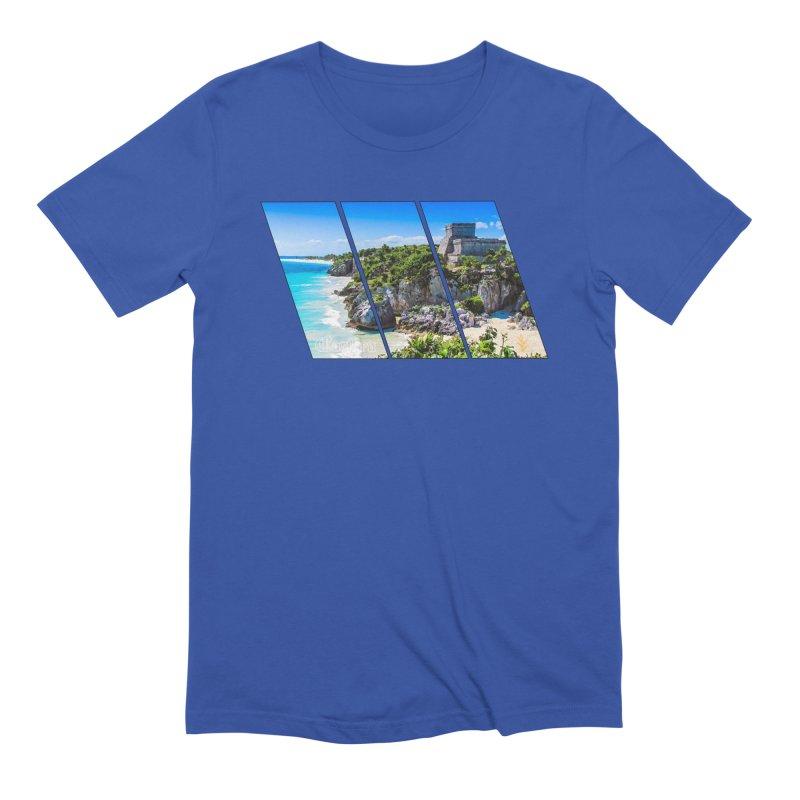 Tulum Beach Slants Men's Extra Soft T-Shirt by Caribea