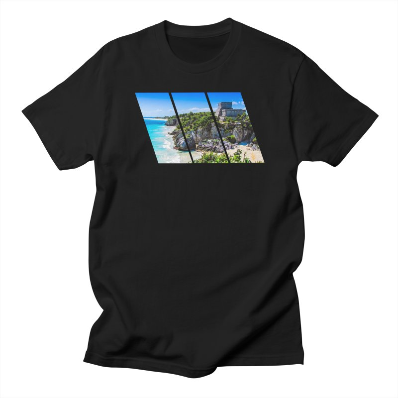 Tulum Beach Slants Men's Regular T-Shirt by Caribea