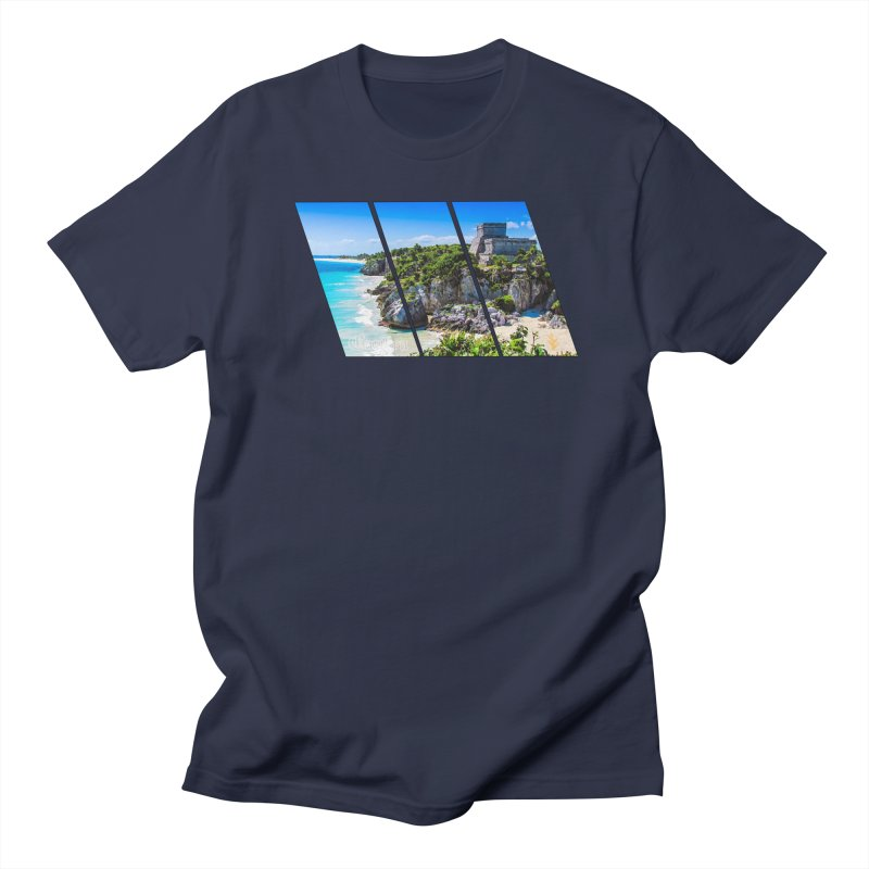 Tulum Beach Slants Men's Regular T-Shirt by Caribea