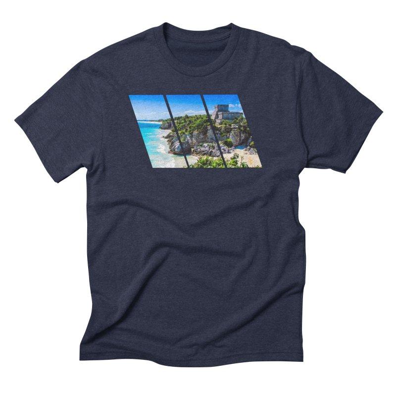 Tulum Beach Slants Men's Triblend T-Shirt by Caribea