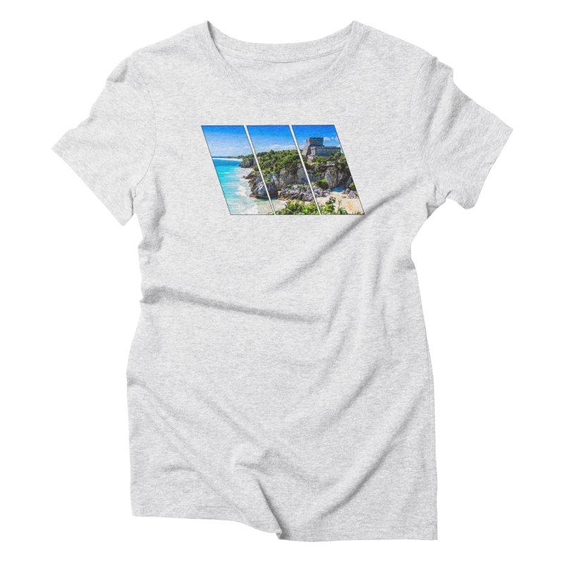 Tulum Beach Slants Women's T-Shirt by Caribea