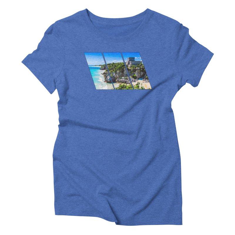 Tulum Beach Slants Women's Triblend T-Shirt by Caribea