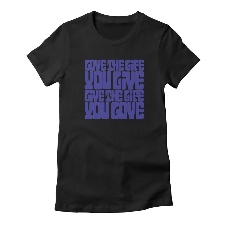 Love Life Tee in Women's Fitted T-Shirt Black by Caribea