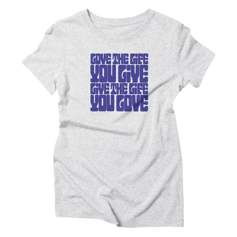 Love Life Tee Women's Triblend T-Shirt by Caribea