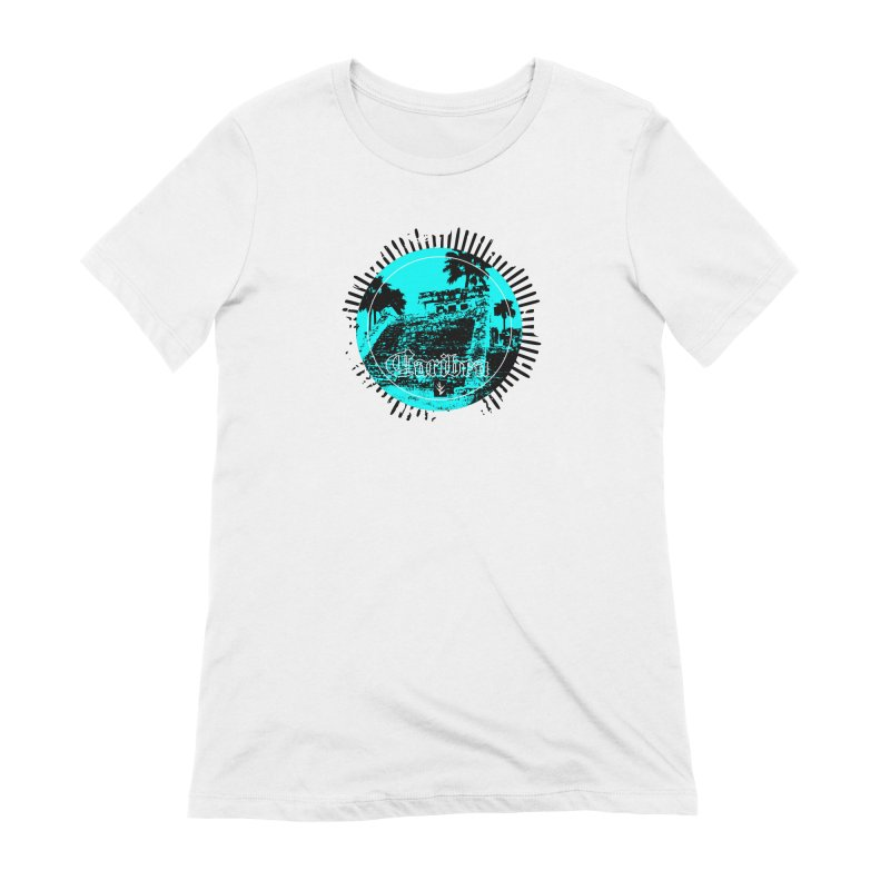 Blue Pyramid Grunge Women's Extra Soft T-Shirt by Caribea