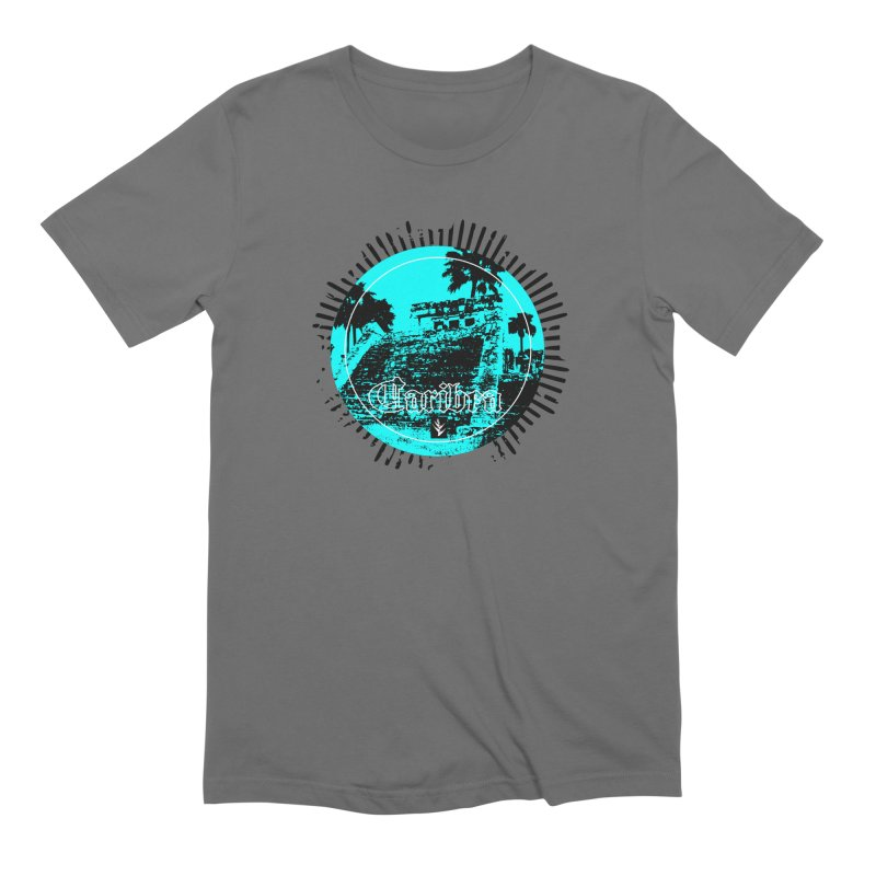 Blue Pyramid Grunge Men's Extra Soft T-Shirt by Caribea