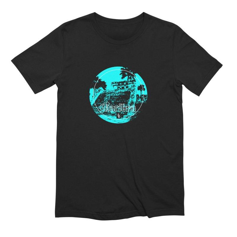 Blue Pyramid Grunge Men's Extra Soft T-Shirt by Caribea