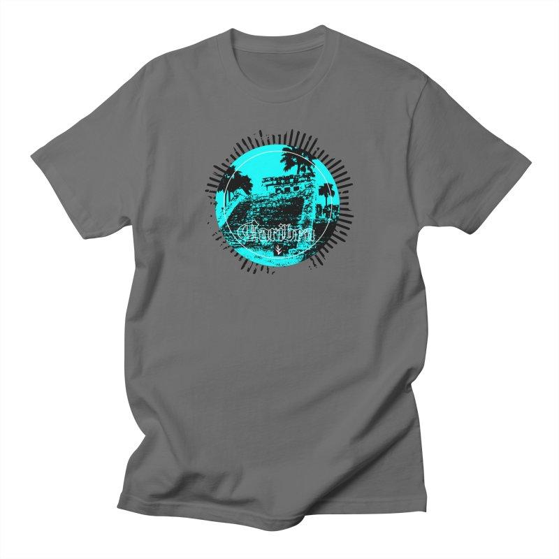Blue Pyramid Grunge Men's T-Shirt by Caribea