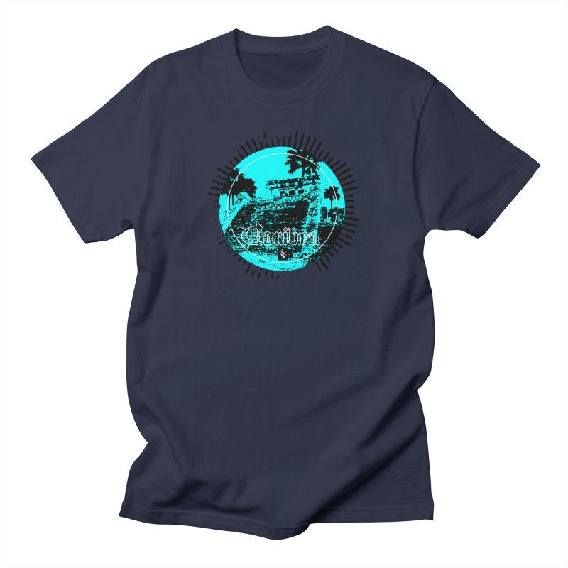 Blue Pyramid Grunge Women's T-Shirt by Caribea