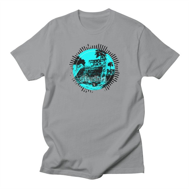 Blue Pyramid Grunge Men's Regular T-Shirt by Caribea