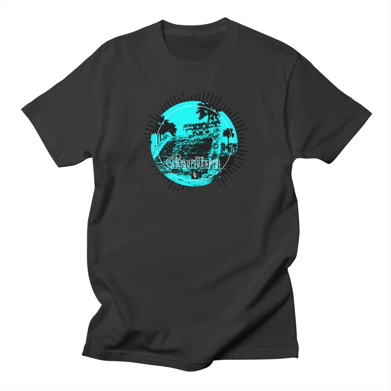Blue Pyramid Grunge Women's Regular Unisex T-Shirt by Caribea