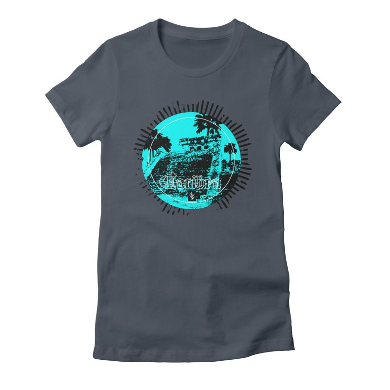 Blue Pyramid Grunge Women's T-Shirt by Caribea
