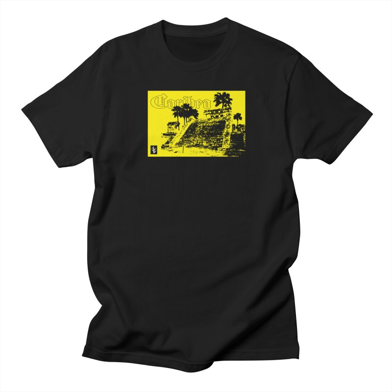 Mayan Pyramid Yellow Men's Regular T-Shirt by Caribea