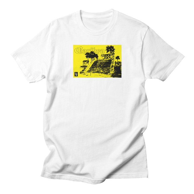 Mayan Pyramid Yellow Men's T-Shirt by Caribea
