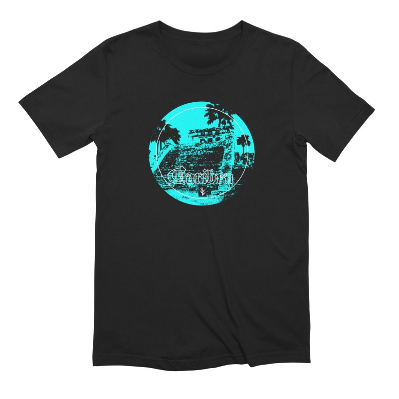 Blue Mayan in Men's Extra Soft T-Shirt Black by Caribea