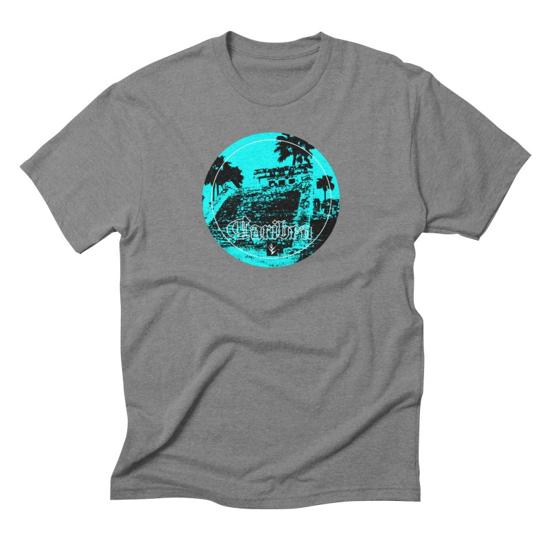Blue Mayan Men's Triblend T-Shirt by Caribea