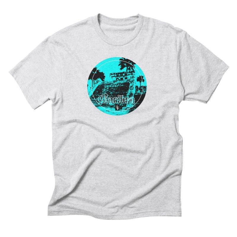 Blue Mayan Men's Triblend T-Shirt by Caribea